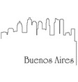 buenos aires city one line drawing vector image vector image