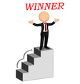 Business man the winner vector image