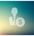 Businessman with dollar sign in flat style icon vector image vector image