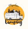 camper van travel trailer or recreational vehicle vector image vector image