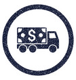 cash delivery rounded grainy icon vector image vector image