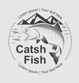 catch fish symbol vector image