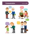 Characters with speech bubbles vector image vector image