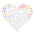 circle bubble fireworks heart vector image vector image
