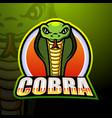 cobra mascot esport logo design vector image vector image
