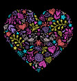 colorful valentines heart vector image vector image