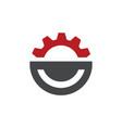 creative simple gear logo design gear and cogs vector image vector image