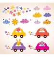 cute animals driving cars kids stuff design vector image vector image