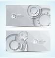 digital gears banners vector image vector image