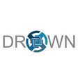 drown logo vector image
