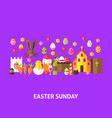 easter sunday greeting postcard vector image vector image