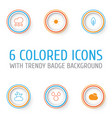 ecology icons set collection of water drops bush vector image vector image