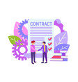 financial business agreement vector image vector image