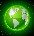 Green Earth - America vector image