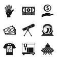 high adaptability icons set simple style