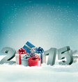 Holiday background with presents and 2015 vector image vector image