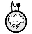 icon chef vector image