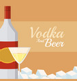 imprimir vodka and beer vector image vector image