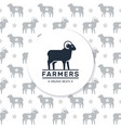 logo a farm or shop with a ram and a place for vector image vector image