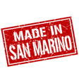 made in san marino stamp vector image vector image