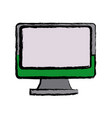 monitor screen computer device wireless vector image vector image