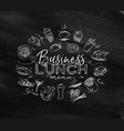 monogram business lunch chalk vector image