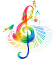 music background on white background vector image vector image