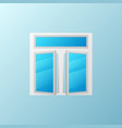 open plastic window with blue bright glass vector image vector image