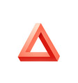 penrose triangle icon impossible triangle shape vector image