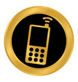 phone button on white vector image vector image