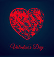 red heart valentines day gift card vector image vector image