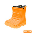 rubber boots isolated on white background vector image vector image