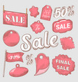 sale discount hand drawn labels set vector image vector image