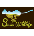 Save wildlife theme with tiger running vector image vector image