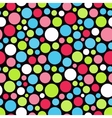 Seamless festive background from circles vector image
