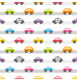 seamless pattern with colorful cars on the road vector image vector image