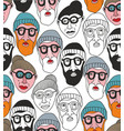 seamless pattern with old people faces vector image vector image