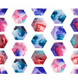 seamless pattern with watercolor hexagons vector image vector image