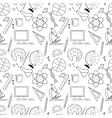 Seamless sketch of education doddle elements vector image