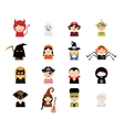 set 16 halloween costume characters and kids vector image