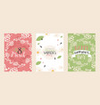 set abstract floral banners greeting card vector image vector image
