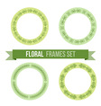 set design elements - round floral frames vector image vector image
