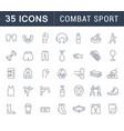 set line icons combat sport vector image
