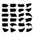 set of black paint vector image