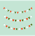 set of colored flags holiday flags vector image vector image
