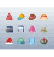 Set of Hat Flat Design Collection vector image vector image