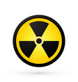 simple radioactivity symbol vector image