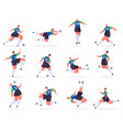 soccer players football professional sportsmen vector image vector image