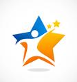 star people sport logo vector image