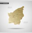 stylized san marino map vector image vector image
